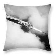Vietnam War: Crusader Jet Throw Pillow