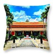 Vietnamese Buddhist Temple Throw Pillow