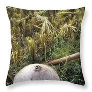 Vietnamese Conical Hat And Rice Cutting Throw Pillow