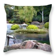 View Across The Pond Throw Pillow