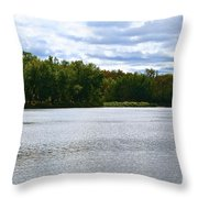 View Across The River Throw Pillow