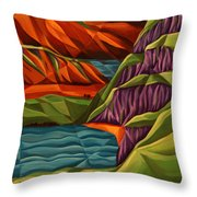View From A Mountainside Throw Pillow