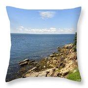 View From Bass Harbor Light Throw Pillow