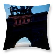 View From Brooklyns Grand Army Plaza Throw Pillow