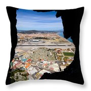 View From Inside Of The Gibraltar Rock Throw Pillow