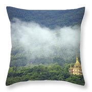 View From Phu Si Hill Throw Pillow