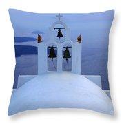 Beauty Of Santorini Greece Throw Pillow