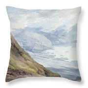 View From Skiddaw Over Derwentwater  Throw Pillow