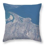 View From Space Of San Diego Throw Pillow