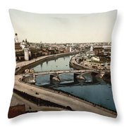 view from St Saviours - Moscow - Russia Throw Pillow