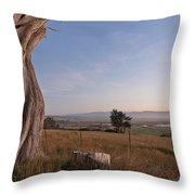 View From Table Bluff Throw Pillow