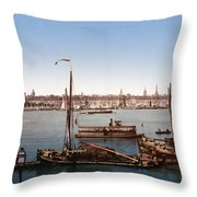 View From The Bastille - Bordeaux - France Ca 1900 Throw Pillow by International  Images