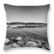 View From The Boat Ramp Throw Pillow