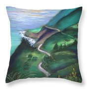View From The Hermitage Throw Pillow