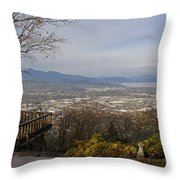 View From The Home On Top Of The Hill Throw Pillow