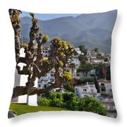 View From The Parador Nerja Throw Pillow