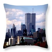 View From The Soldiers And Sailors Arch Brooklyn Throw Pillow