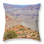 View From The South Kaibab Trail II Throw Pillow