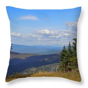 View From Top Of Cannon Mountain Throw Pillow
