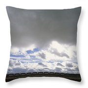 View Of A Train Carrying Coal Throw Pillow