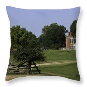 View Of Appomattox Courthouse 1 Throw Pillow by Teresa Mucha