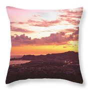 View Of Cabo San Lucas And Tip Of Baja Throw Pillow