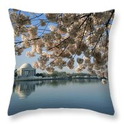 View Of Cherry Blossoms Throw Pillow