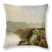View Of Cozzen's Hotel Near West Point Ny Throw Pillow
