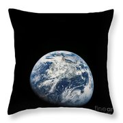 View Of Earth Taken From The Aollo 8 Throw Pillow