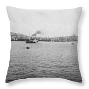 View Of Galata And Istanbul - Between 1880-1893 Throw Pillow