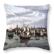 View Of London, 1550 Throw Pillow