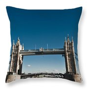 View Of London Bridge From The Thames Throw Pillow