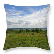 View Of Maine Bay Throw Pillow