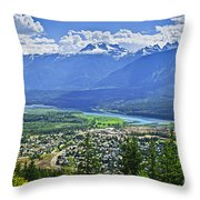 View Of Revelstoke In British Columbia Throw Pillow
