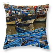 View Of Skala Du Port Throw Pillow