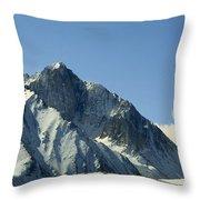 View Of Snow-covered Mountain Ridges Throw Pillow