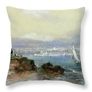 View Of Sydney Harbour Throw Pillow