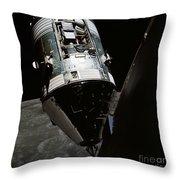 View Of The Apollo 17 Command Throw Pillow