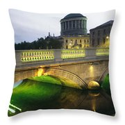View Of The Four Courts And The Liffey Throw Pillow