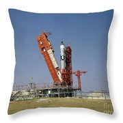 View Of The Gemini-titan 4 Spacecraft Throw Pillow