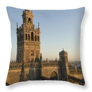 View Of The Giralda Tower Throw Pillow