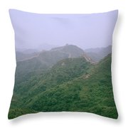View Of The Great Wall Of China Throw Pillow