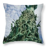 View Of The Holocaust Memorial Throw Pillow