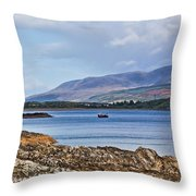 View Of The Isle Of Arran Throw Pillow