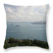 View Of The Marmara Sea - Istanbul Throw Pillow