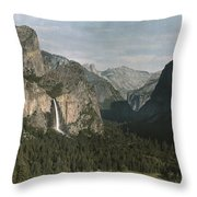 View Of The Mountain El Capitan Throw Pillow