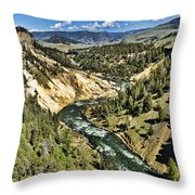 View Of The River Throw Pillow