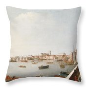 View Of The River Thames From The Adelphi Terrace  Throw Pillow