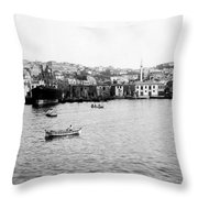 View Of Tophane - Istanbul - From The Sea - Turkey Throw Pillow