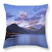 View Of Wastewater, Located In The Lake Throw Pillow